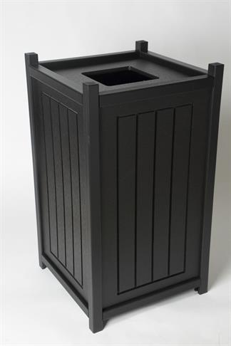 13 Gallon Square Trash Container with Liner