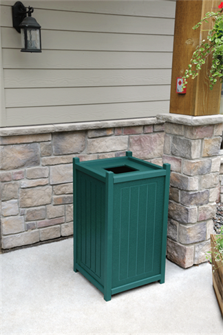 25 Gallon Square Trash Container with Liner